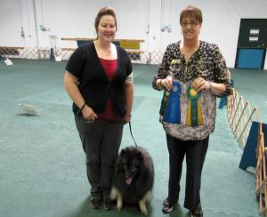 Clancy and Stacie earn their AKC Rally Novice title and 1st place!