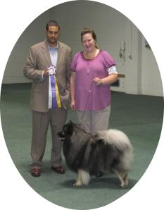 Clancy and I with the honorable UKC Judge Rolando Mata whom awarded Clancy Best in Show Altered in Show 2 on September 1, 2013.  Clancy won 2 BIS and 1 RBIS out of the 4 altered shows this weekend!