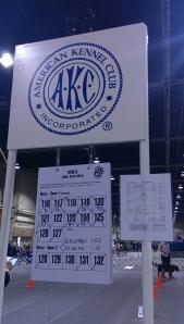 AKC score sign