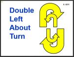 Double left about turn Rally sign