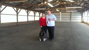 Clancy and I achieved our UKC Rally Obedience 3 title last weekend!  With some great scores of 97, 95 and 97, too!